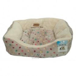 Pelíšek s puntíky Extra soft Bed S 61cm-šedá-13859