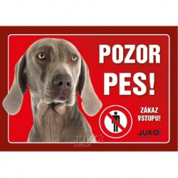 samolepka-Pozor Pes-VÝMARSKÝ OHAŘ-13890