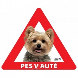 samolepka-Pes v autě venkovní-JORKŠÍRSKÝ TERIÉR-13902
