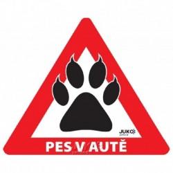 samolepka-Pes v autě venkovní -TLAPKA-13905