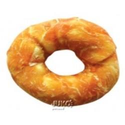 Buvolí kroužek obalený kuřecím masem JUKO Exclusive Snacks 10 cm (6 ks)
