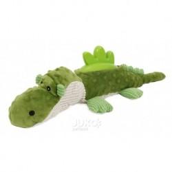 Plyšová hračka s gumou Krokodýl
