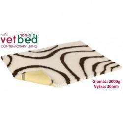 Vetbed protiskluz/Drybed béžovohnědá role 10 x 1,5 m, vlas 30 mm