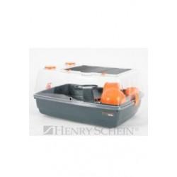 Klec křeček INDOOR 55cm Vision 360 oranžová/šedá Zolux