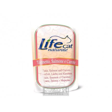 Lifecat pouch Tuna, salmon and carrots 70g-10122