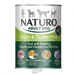 Naturo Dog Duck-Blueberries 390g-konzerva-13313- Exp 6/2019+poškozeny obal-AKCE 30%