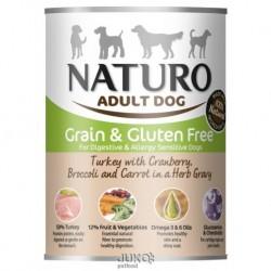 Naturo Dog Turkey-Cranberries 390g-konzerva-13314-Exp 3/2019-AKCE 30%