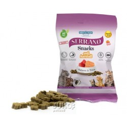 Serrano Snack for Cat-Salmon&Tuna-AntiHairball 50g-12ks-AKCE 10%-14571