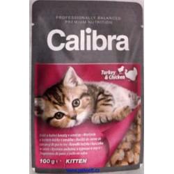 Calibra Cat kapsa Kitten krůtí a kuřecí v omáčce