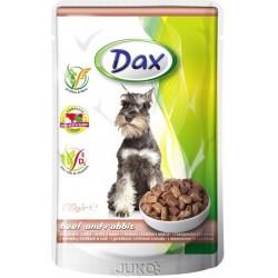 Dax kapsa DOG HOVĚZÍ+KRÁLÍK 100g-11990-!CZ!