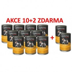 Optimanova Dog Duck Grain free 400g-konzerva-14884