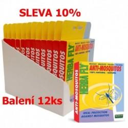 Herba Fly Anti Mosquitos náramek proti komárům (12 ks) SLEVA 10 %