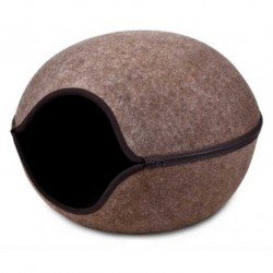 Kukaň-Pelíšek variabil-vchod střed 46x46x32.5cm-Hnědá-13822