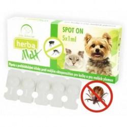 Max Herba Spot-on Dog & Cat antiparazatiní kapsle, pes a kočka 5 x 1 ml