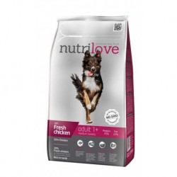 Nutrilove pes granule ADULT Medium fresh kuřecí 1,6kg-13198