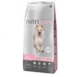 Nutrilove pes granule SENSITIVE jehněčí+rýže 3kg-13206