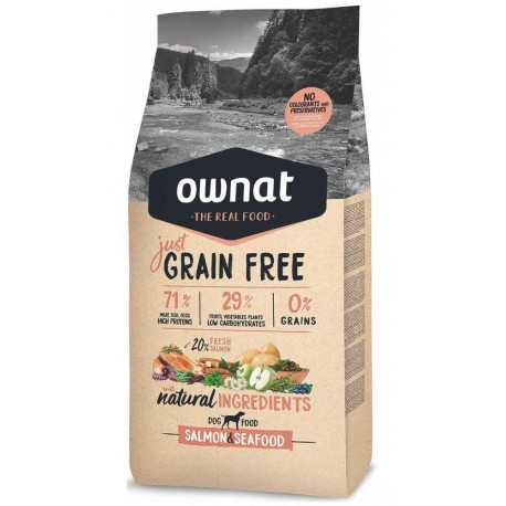 OWNAT Dog JUST GRAIN FREE Salmon&Seafood 3kg-14673