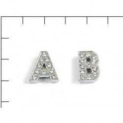 Navlékací písmenka -S- 12mm,vysázené krystaly-7422