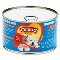 GRAND premium DELIKATÉS-cat-dog-směs 405g-574