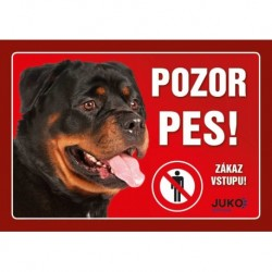 samolepka-Pozor Pes - ROTVAJLER-13887