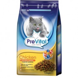 PreVital kočka kuřecí se zeleninou, granule 1,8 kg