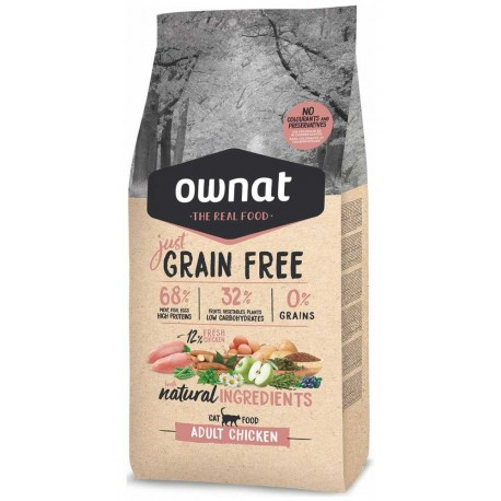 OWNAT Cat JUST GRAIN FREE Adult Chicken 3kg-14678