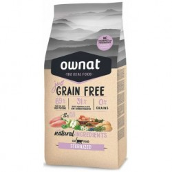OWNAT Cat JUST GRAIN FREE Sterilized 1kg-14679