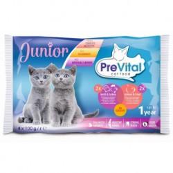 Prevital kapsa kočka 4-pack 100g jehně+krůta,losos+pstruh Junior-14151-!CZ!