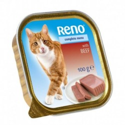 RENO vanička CAT HOVĚZÍ+ZELENINA 100g-11742