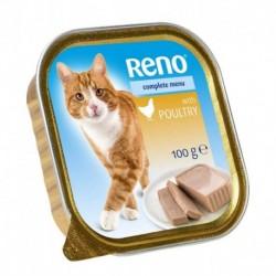 RENO vanička CAT DRUBEŽÍ+ZELENINA 100g-11741