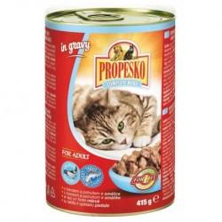 PROPESKO CAT kousky losos+pstruh v omáč 415g-9025