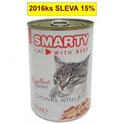SMARTY chunks CAT 410g BEEF-hovězí-7739