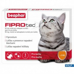 a.Beaphar FIPROTEC Spot-On 50MG 1XCAT-do 1kg-14142