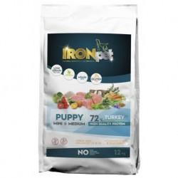 IRONpet Dog Puppy Mini & Medium Turkey (Krůta) 12 kg
