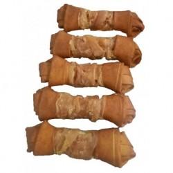 Buvolí uzel UZENÝ obalený-Kuře 15cm (85-90g)-6ks-14805