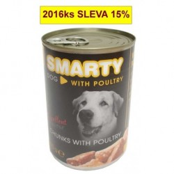 SMARTY chunks DOG 410g POULTRY-drůb.-7744