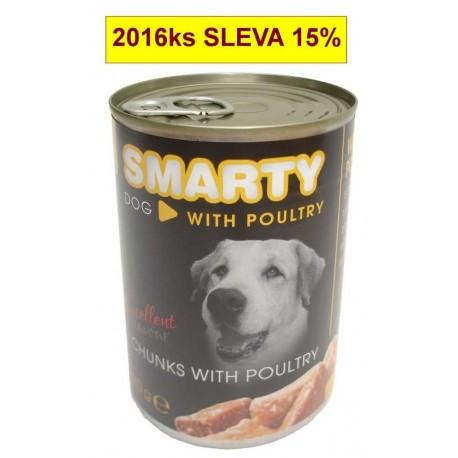 SMARTY chunks Dog Drůbeží 410 g