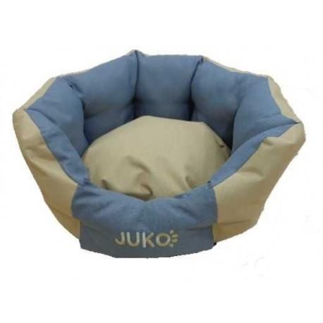 Pelíšek odolný JUKO koruna XL:74x63x25cm-Béžová-13820
