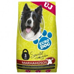 EuroDog Dry food with Beef 3kg-15221