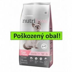 Nutrilove kočka Sterile kuřecí, granule 7 kg - SLEVA 10 % (poškozený obal)