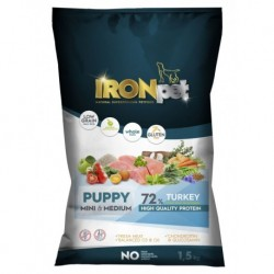 IRONpet TURKEY Puppy Mini & Medium 1,5kg-15265