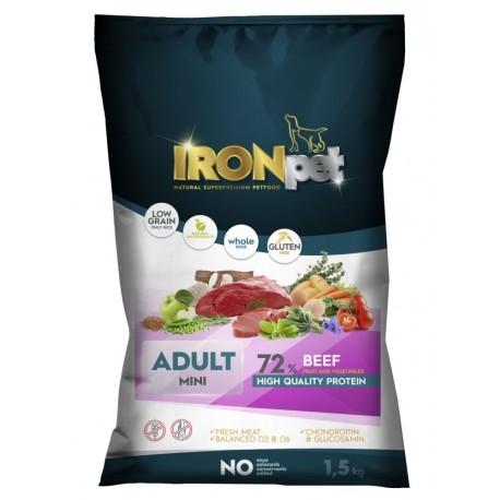 IRONpet BEEF Mini Adult 1,5kg-15267