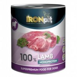 IRONpet Dog Lamb (Jehněčí) 100% Monoprotein, konzerva 800 g