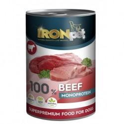 IRONpet BEEF 100% Monoprotein 400g Hovězí, konzerva-15317