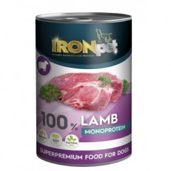 IRONpet Dog Lamb (Jehněčí) 100% Monoprotein, konzerva 400 g