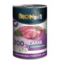 IRONpet LAMB 100% Monoprotein 400g Jehněčí, konzerva-15319