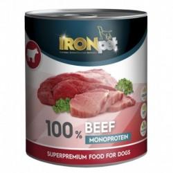 IRONpet BEEF 100% Monoprotein 800g Hovězí, konzerva-15318