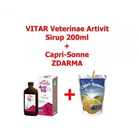 VITAR Veterinae Artivit Sirup 200ml+Capri-Sonne Red Fruits-12580
