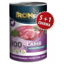 IRONpet LAMB 100% Monoprotein 400g Jehněčí, konzerva-AKCE 5+1-15402