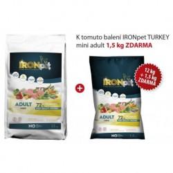 IRONpet TURKEY Mini Adult 12kg+1,5kg Baleni ZDARMA-15403